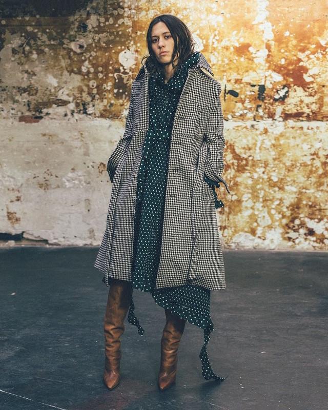 Vetements Ruffled-shoulder Polka-dot Print Dress