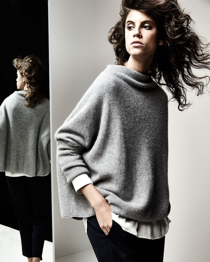 Vince Boiled Cashmere Funnel-Neck Sweater