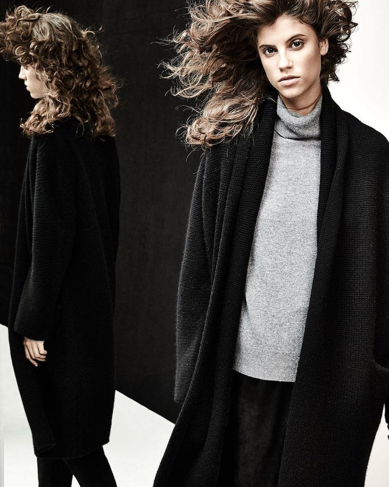 Vince Yak-Wool Oversized Open-Front Cardigan