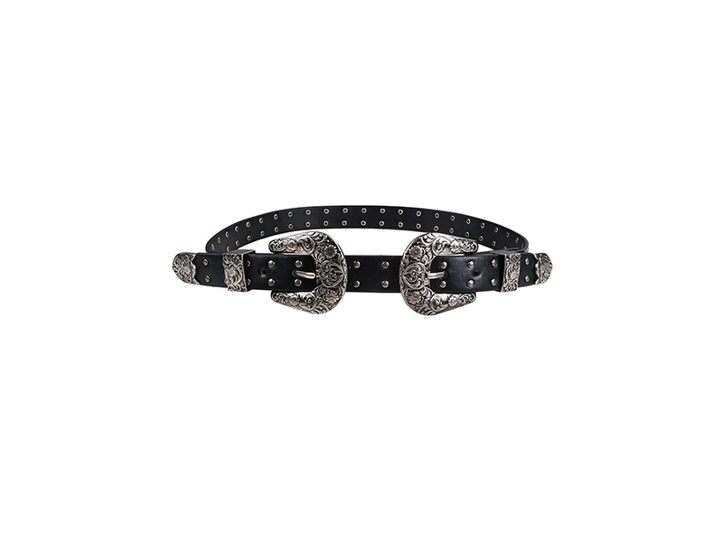 Wink Gal Metal Leather Coachella Deluxe Conoho Of Destiny Buckle Belt Thin Band