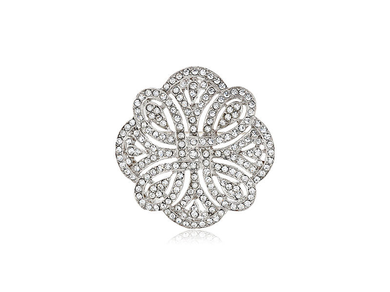 1928 Bridal Art Deco Revival Eternity Brooch