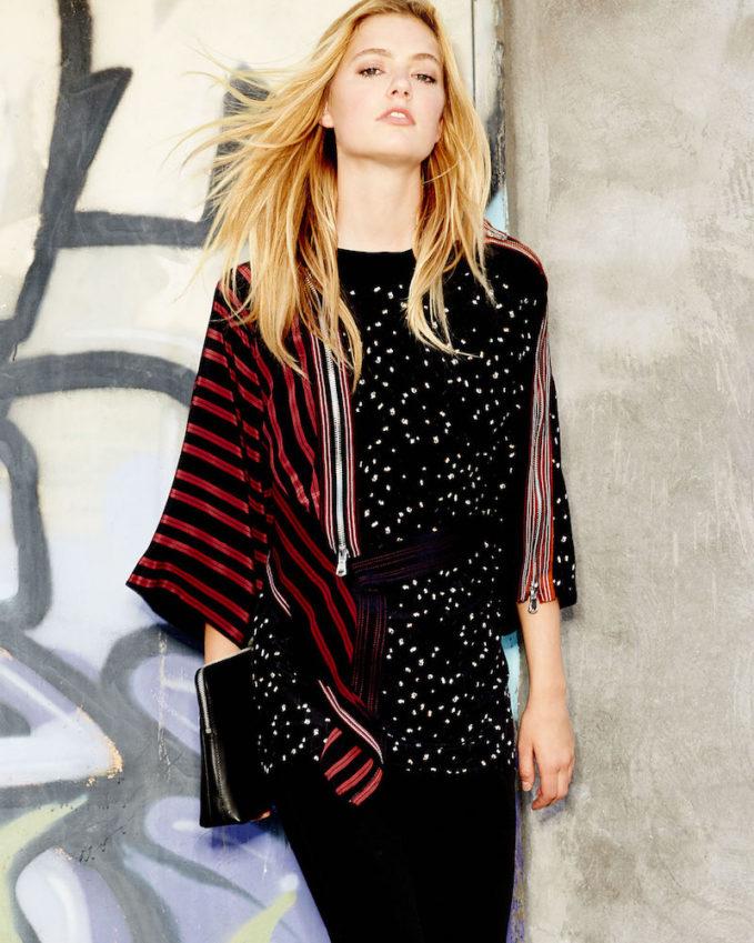 3.1 Phillip Lim Silk Kimono Combo Top