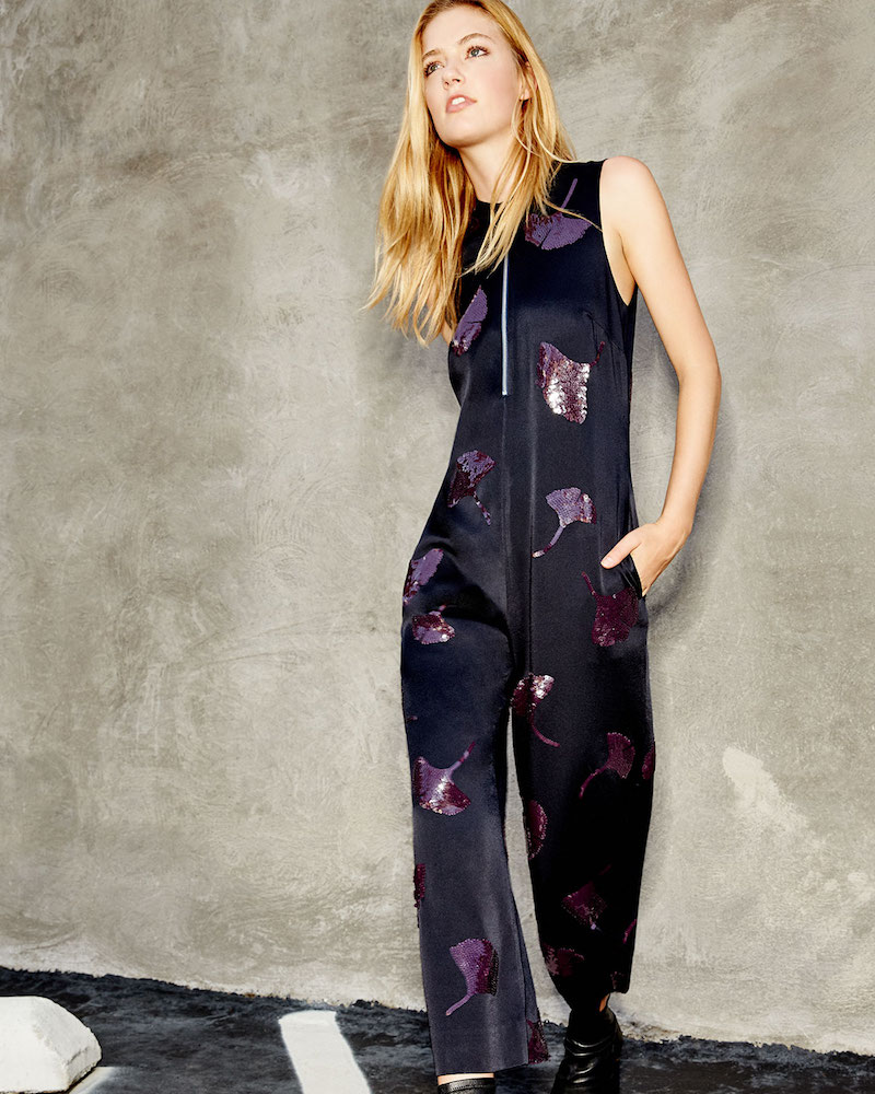 3.1 Phillip Lim Sleeveless Gingko-Embellished Jumpsuit