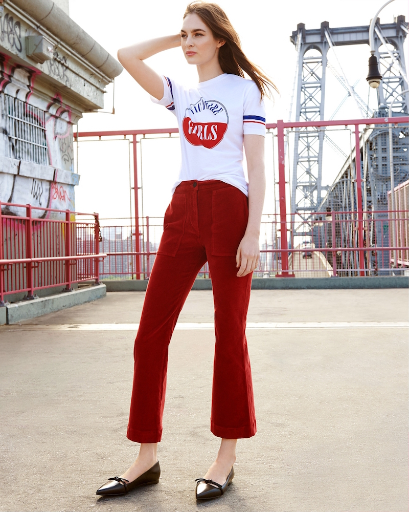 3x1 W3 Patch Bell Crop Pants