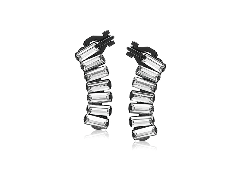 ABS By Allen Schwartz Black Magic Stone Climber Earrings