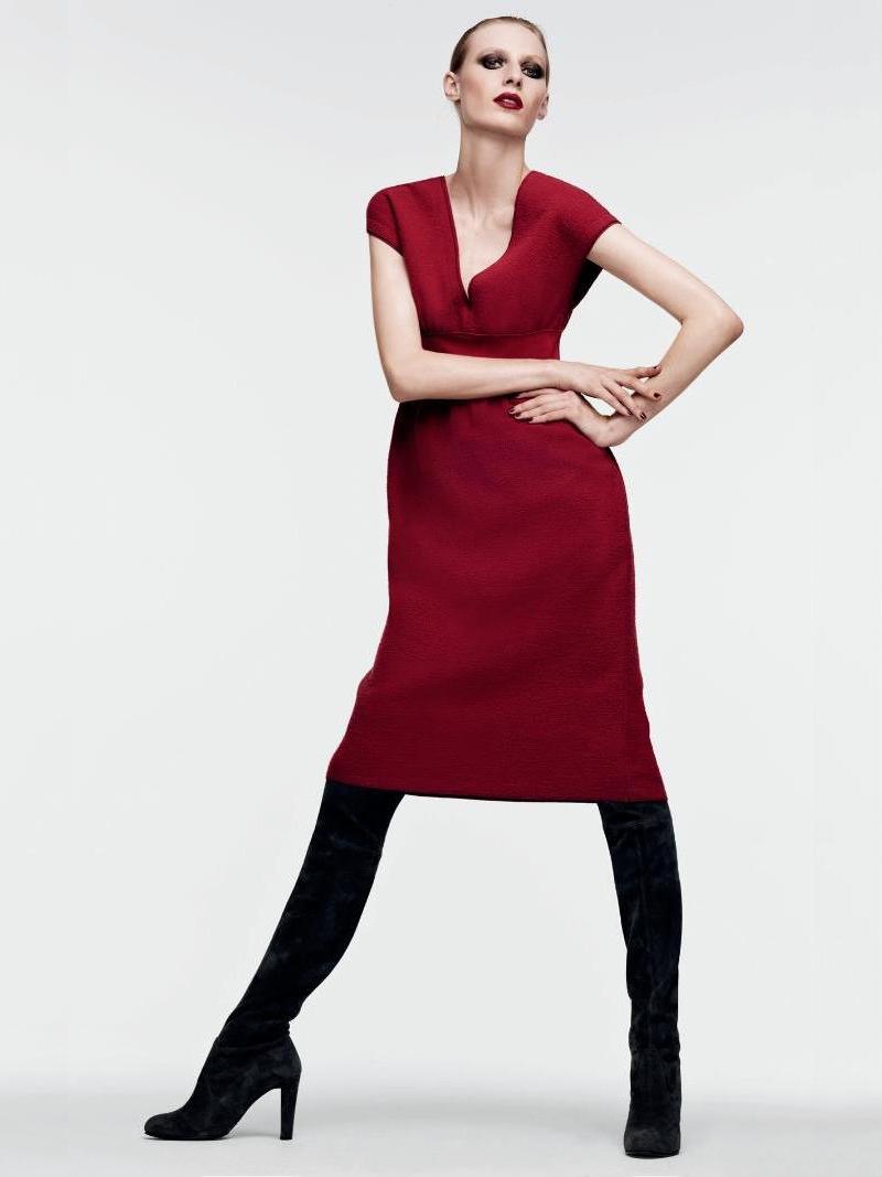 Agnona Cap-Sleeve Boucle Dress