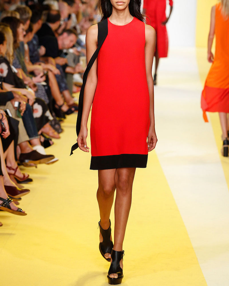 Akris Contrast-Sash Sleeveless Shift Dress