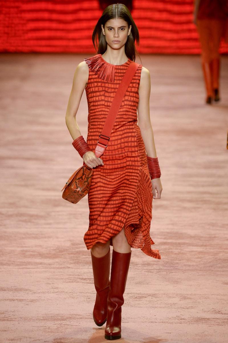 Akris Sleeveless Printed Asymmetric Panel Dress