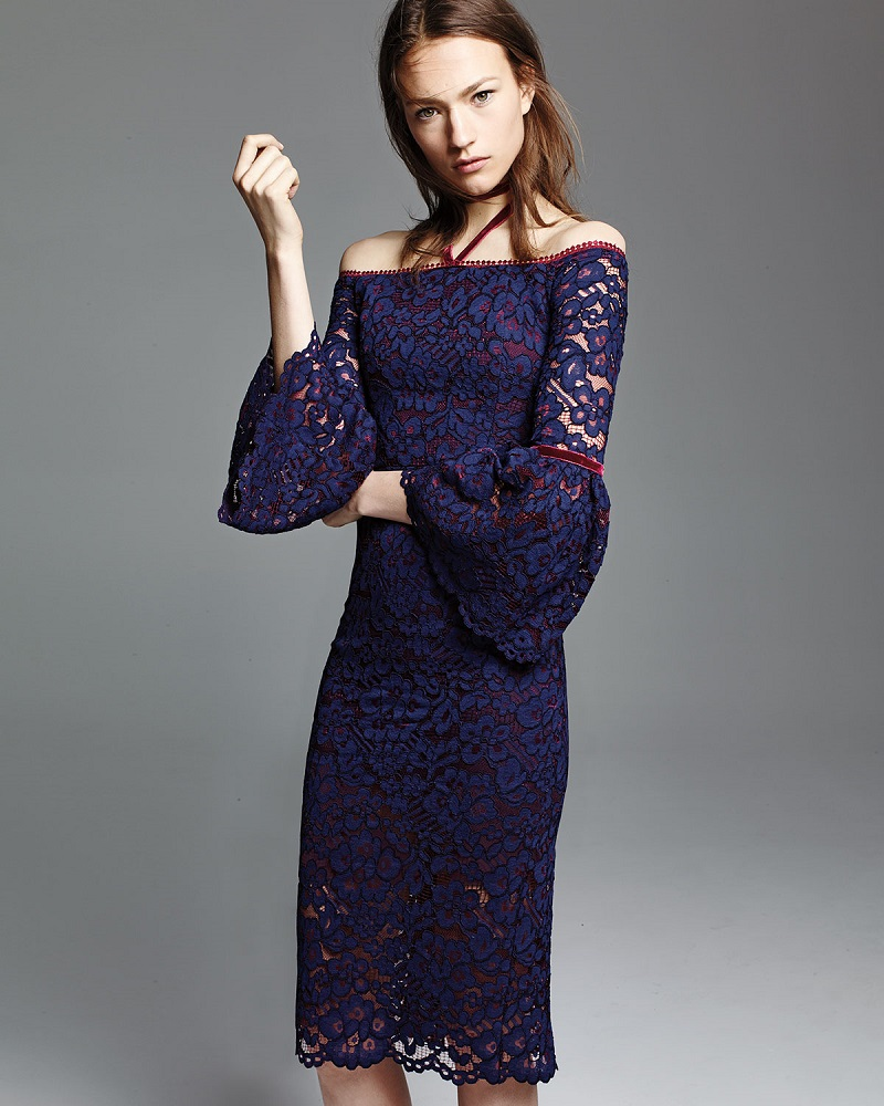 Alexis Belin Off the Shoulder Lace Dress