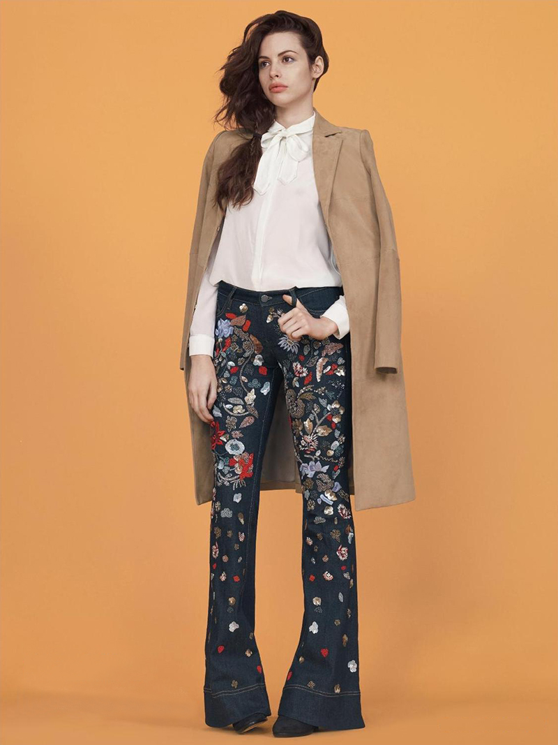 Alice and Olivia Ryley Embellished Flared Jeans