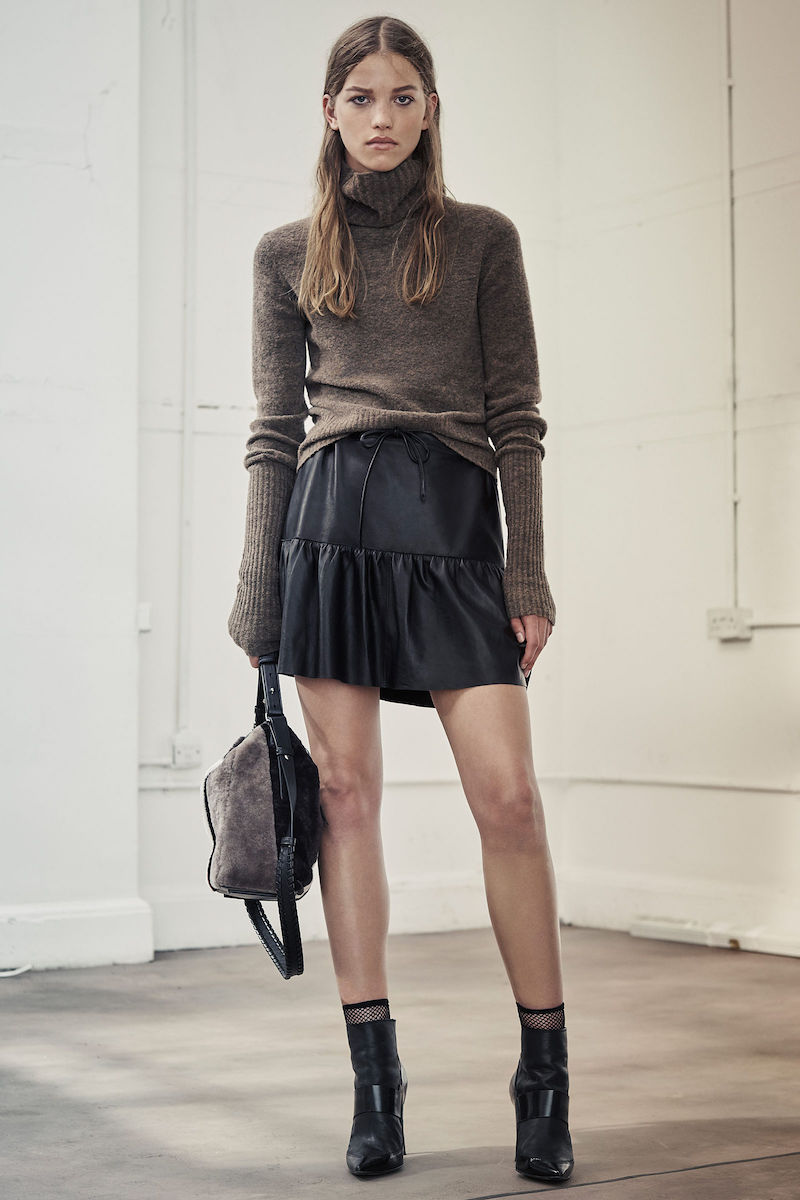 AllSaints Haslam Leather Skirt