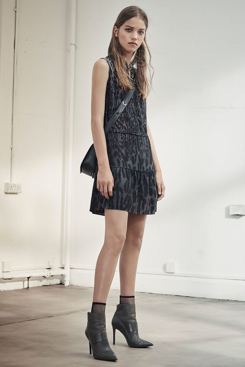 AllSaints Lin Sinai Silk Dress