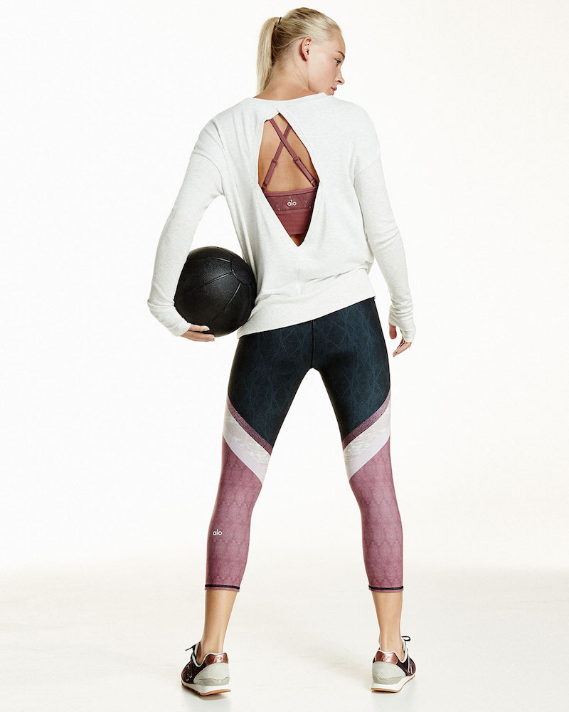 Alo Yoga Intricate Cutout-Back Sport Pullover