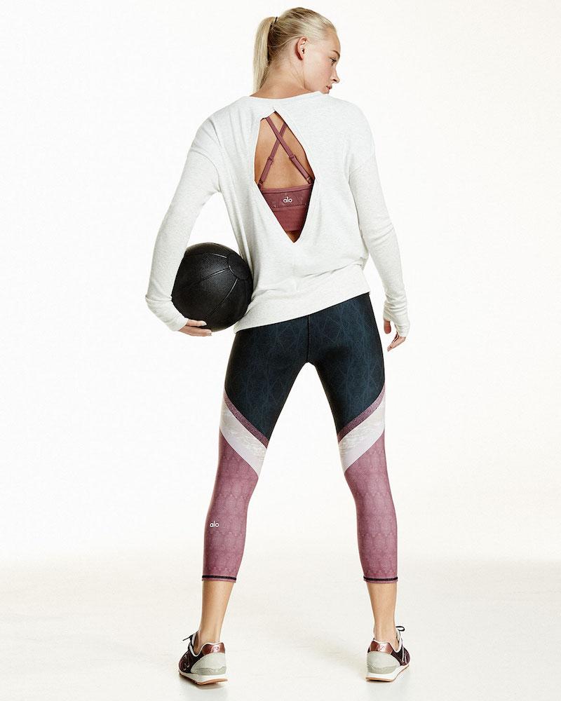 Alo Yoga Intricate Cutout-Back Sport Pullover