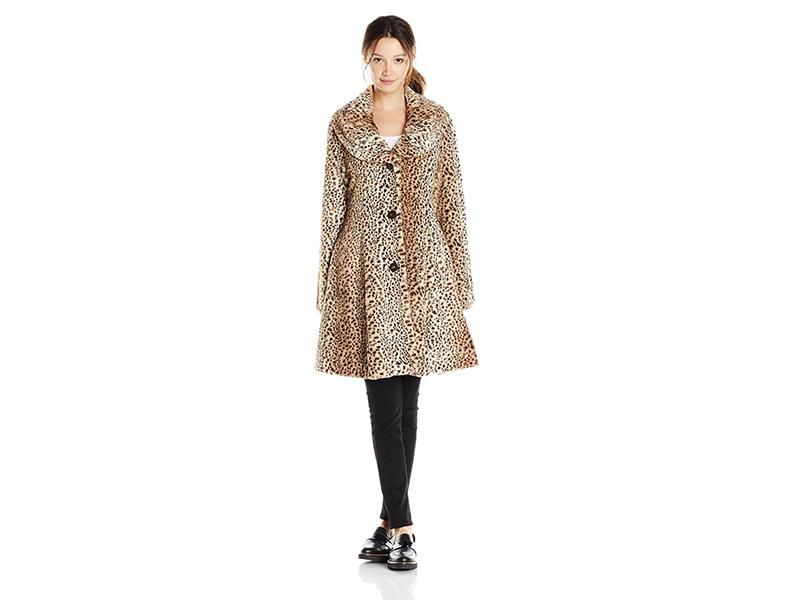 Angie Leopard Print Swing Coat