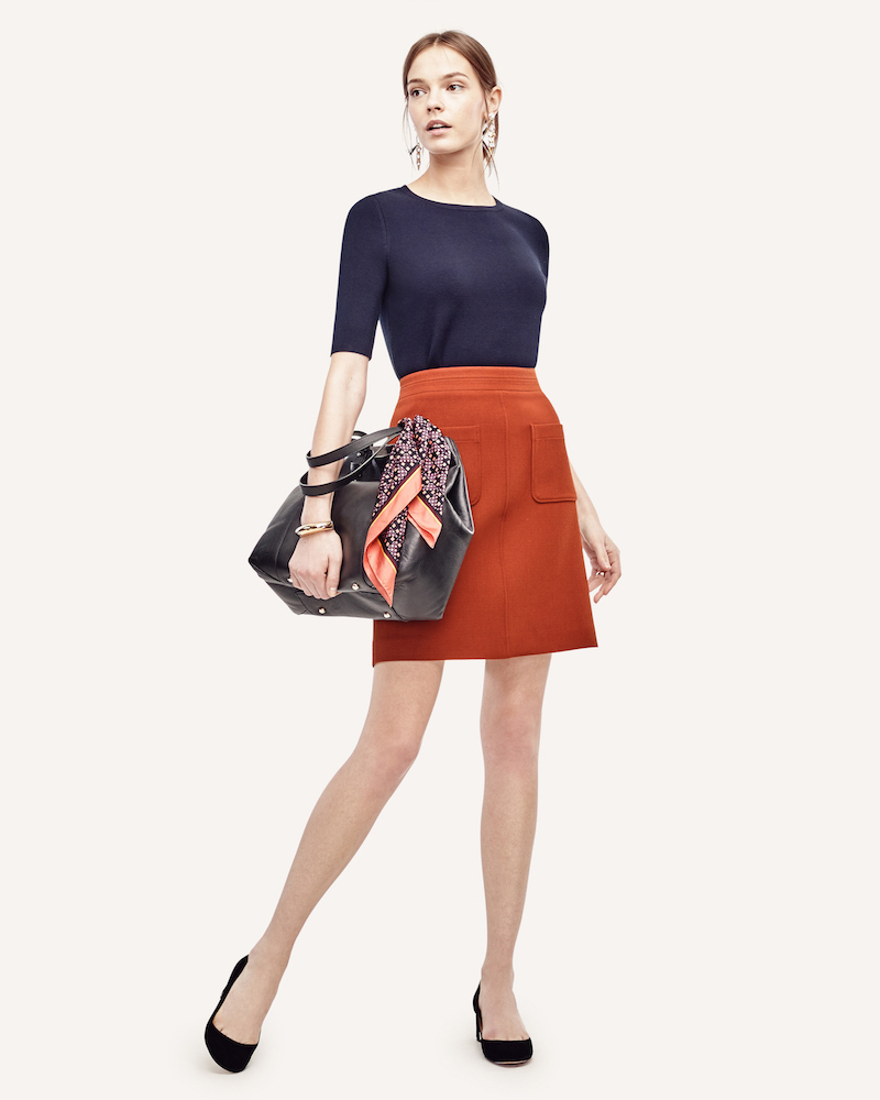 Ann Taylor Double Pocket Skirt