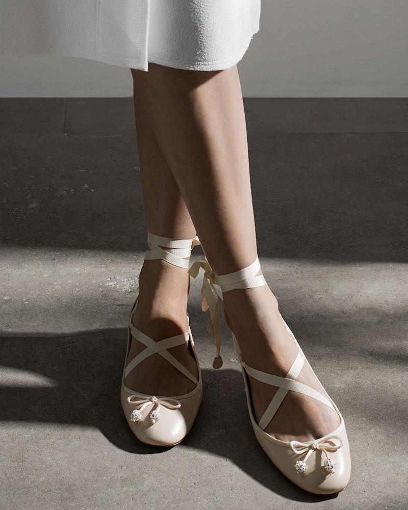 Aquazzura Very Ballerina Crystal-embellished Flats