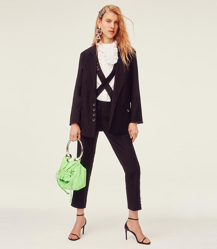 Ashley Williams Piercing Wool Blazer