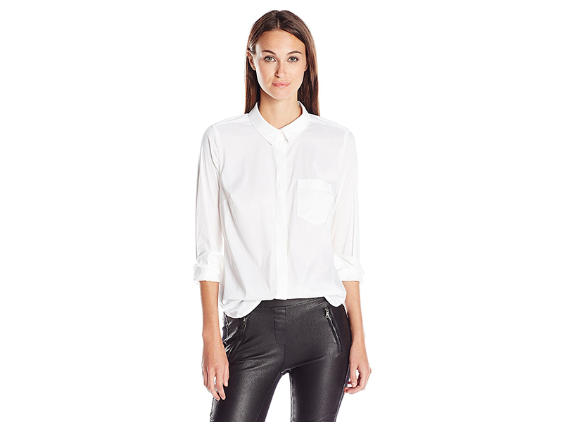 BCBGeneration White One-Pocket Shirt