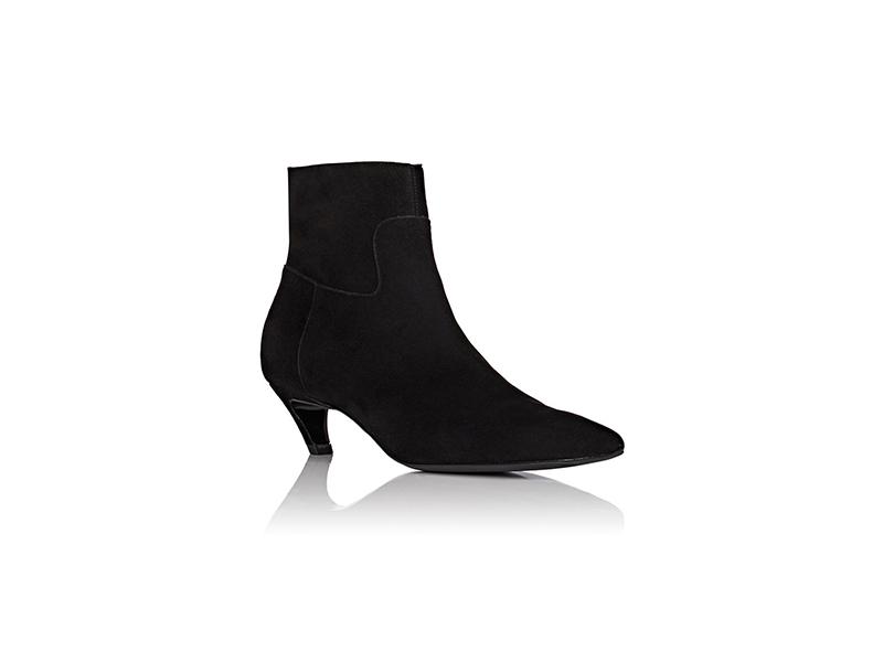 Balenciaga Broken Heel Suede Ankle Boots