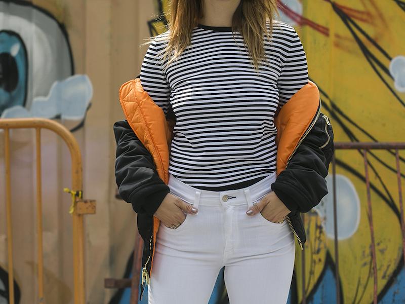 Barneys New York Striped Shrunken Fit Sweater
