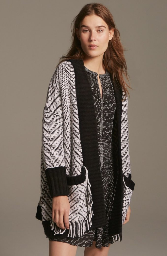 Burberry Brit Burberry Glasshouse Fringed Wool Sweater Jacket