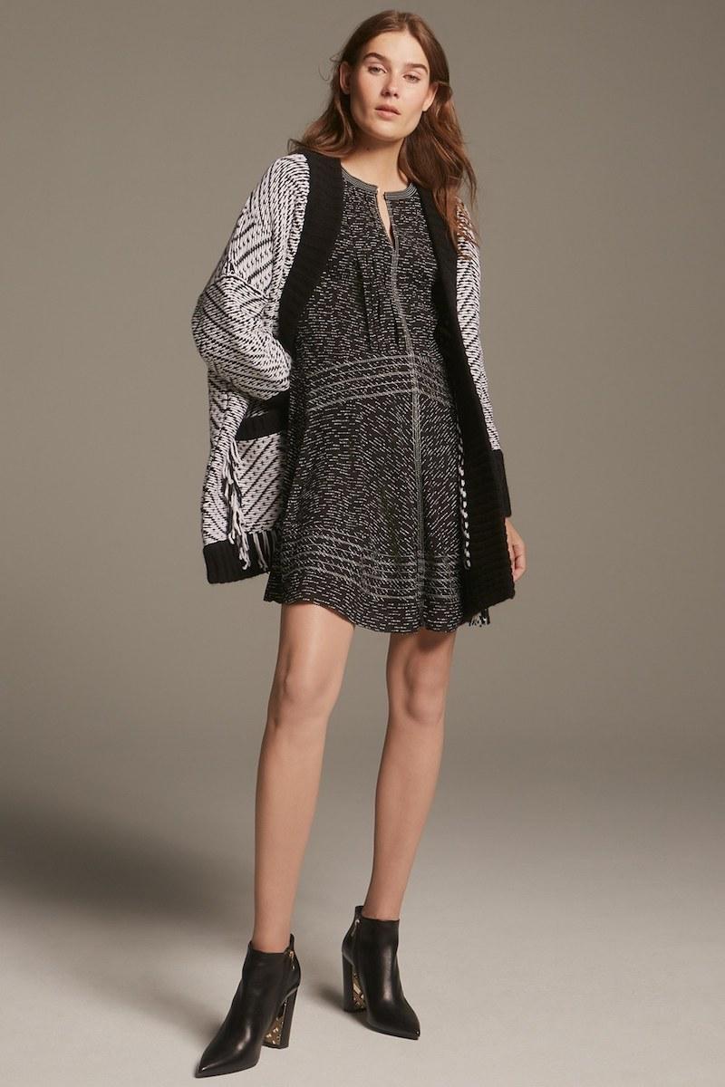 Burberry Jessica Print Mulberry Silk Fit & Flare Dress