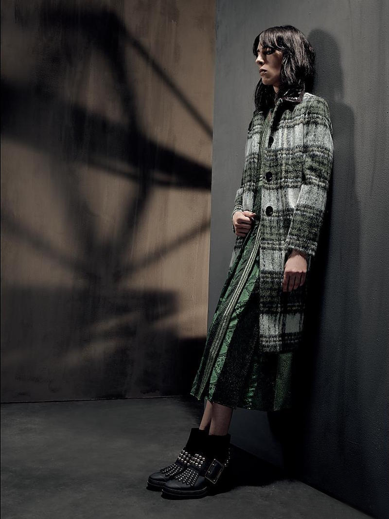 Burberry Plaid Single-Breasted Coat