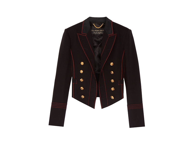 Burberry Prorsum Double-breasted Wool Blend Twill Blazer