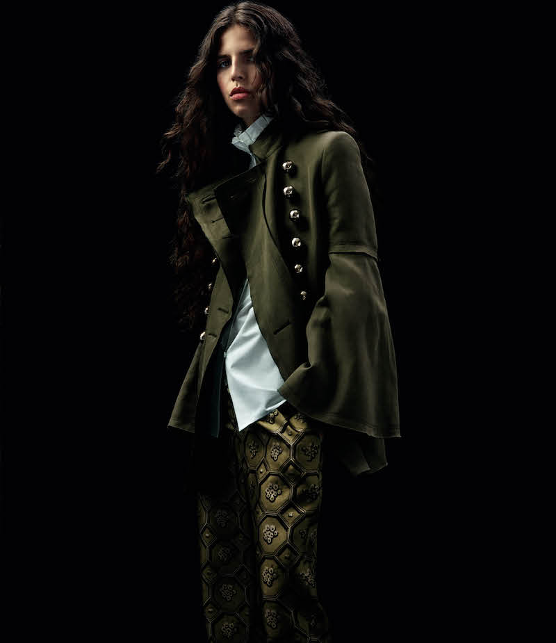 Burberry X Barneys New York Bell-Sleeve Military Jacket