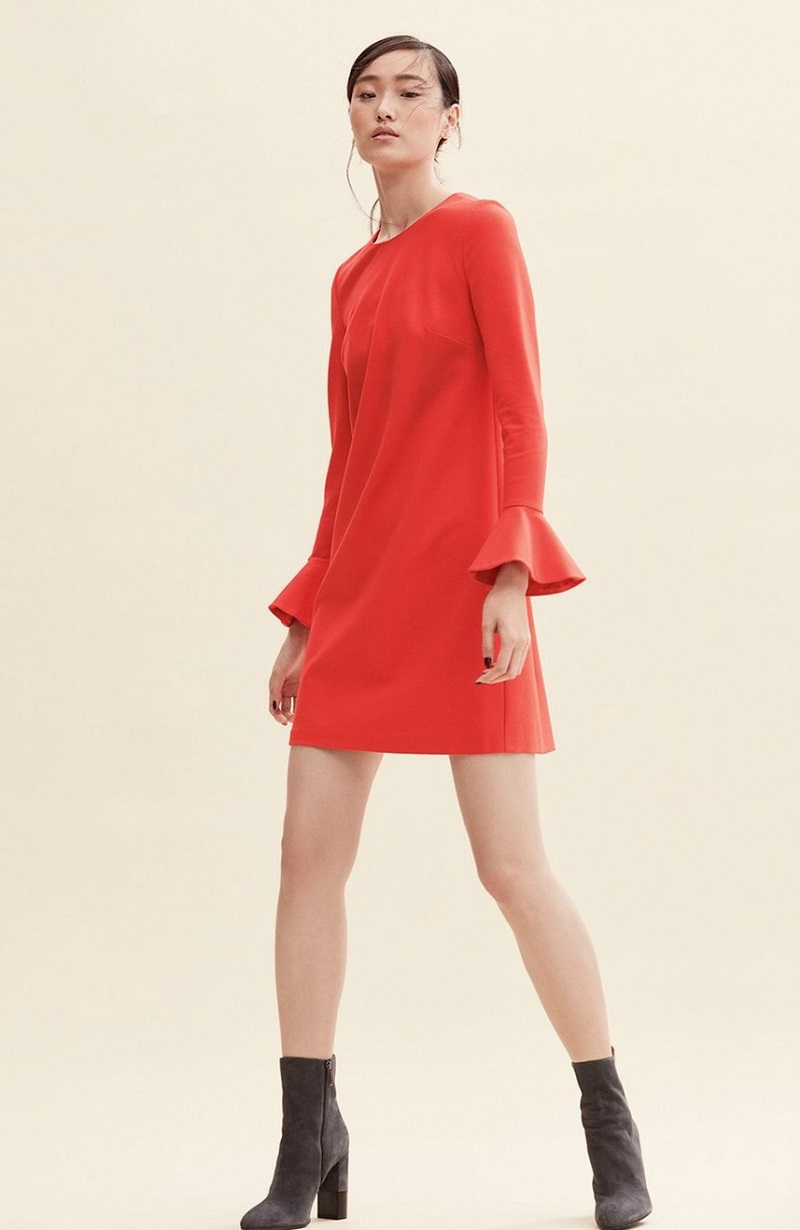 CeCe Bell Sleeve Ponte Shift Dress