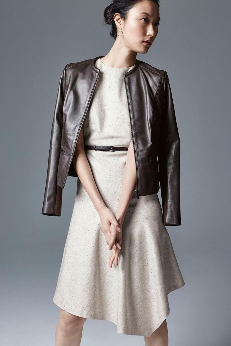 Classiques Entier Leather & Knit Jacket