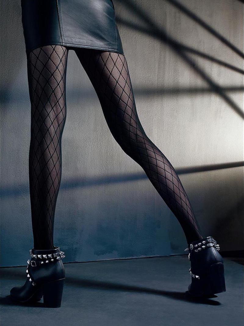 Commando Diamond Rib Net Tights