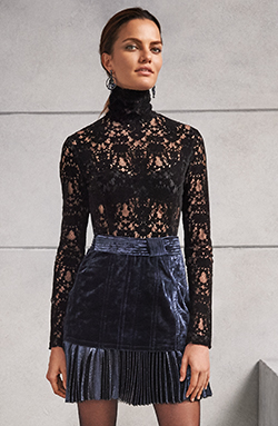 DKNY Velvet Lace Turtleneck