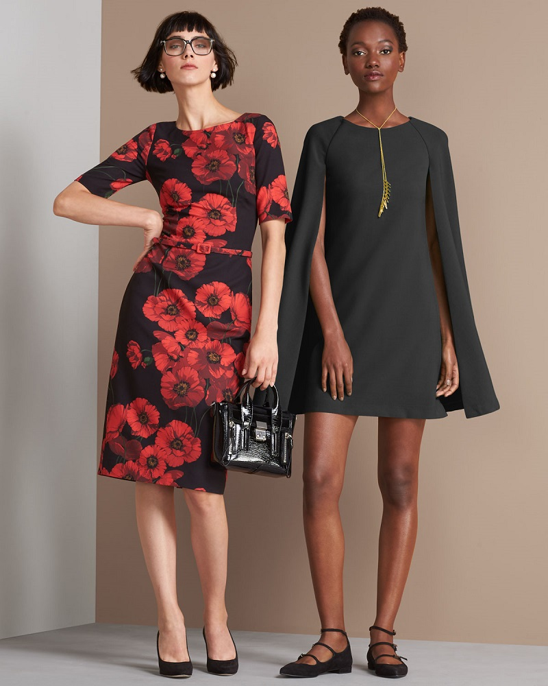 david-meister-short-sleeve-belted-floral-sheath-dress