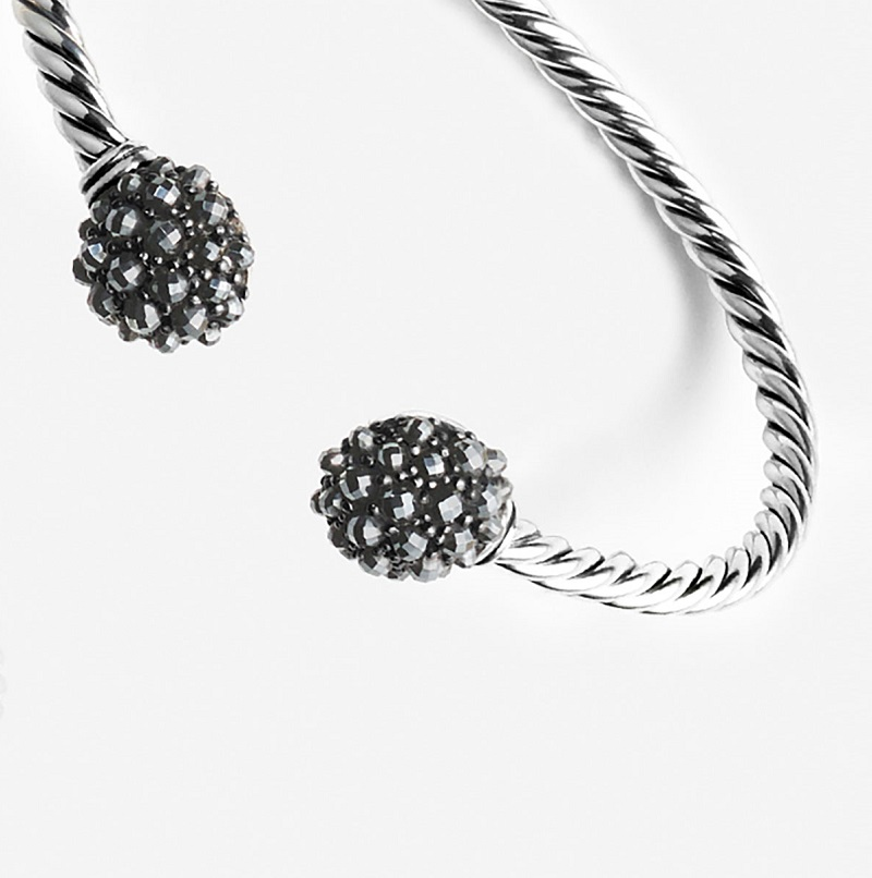 David Yurman Osetra Faceted Hematine Bracelet