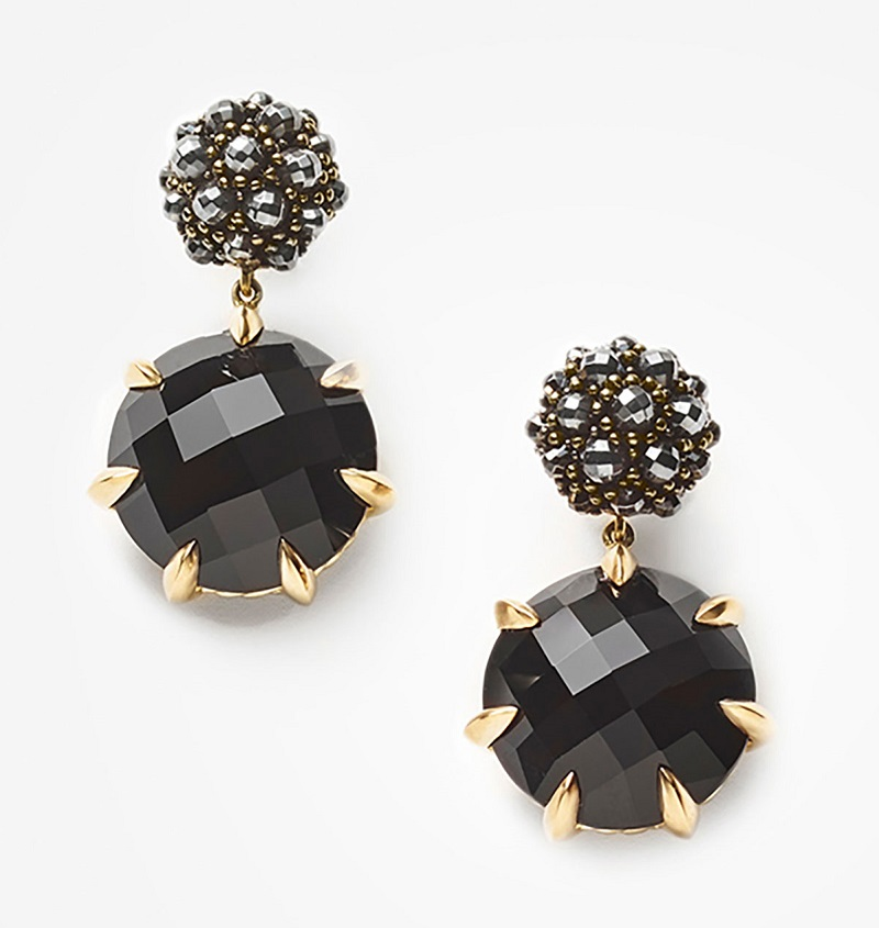 David Yurman Osetra Hematine & Black Onyx Earrings