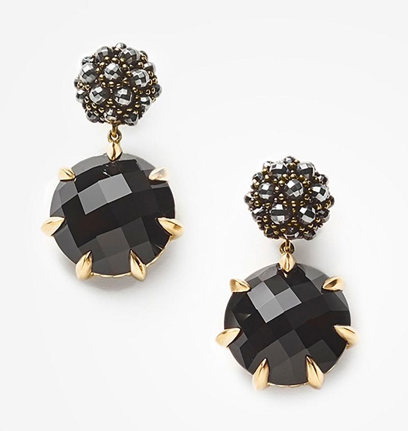 David Yurman Osetra Hematine & Black Onyx Earrings