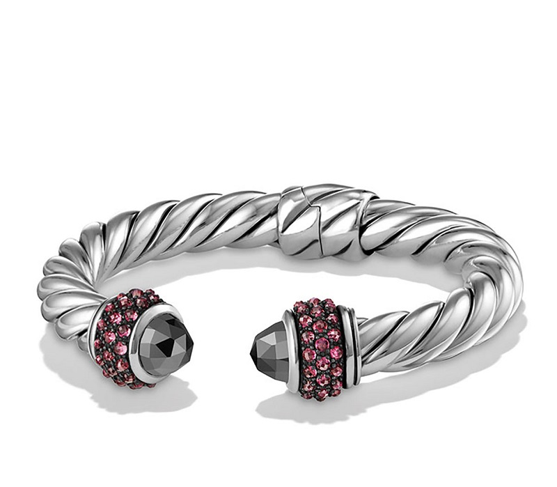 David Yurman Osetra Hematine & Rhodolite Garnet Bracelet