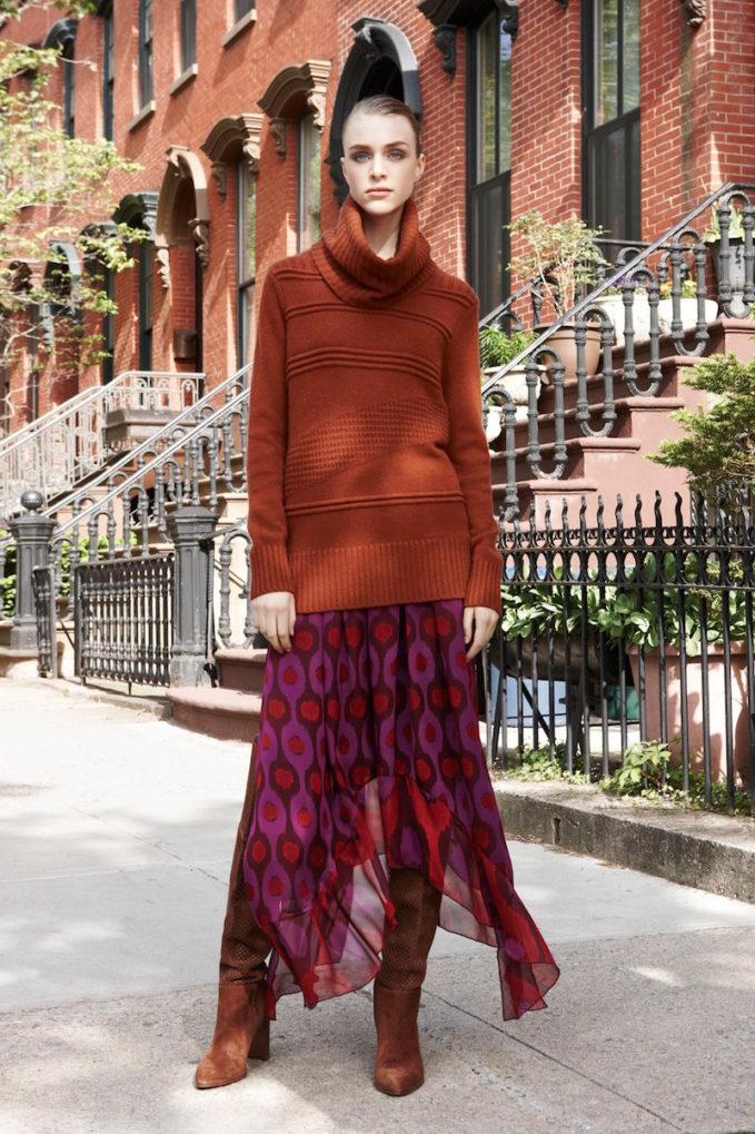 Diane von Furstenberg Louella Silk Maxi Skirt