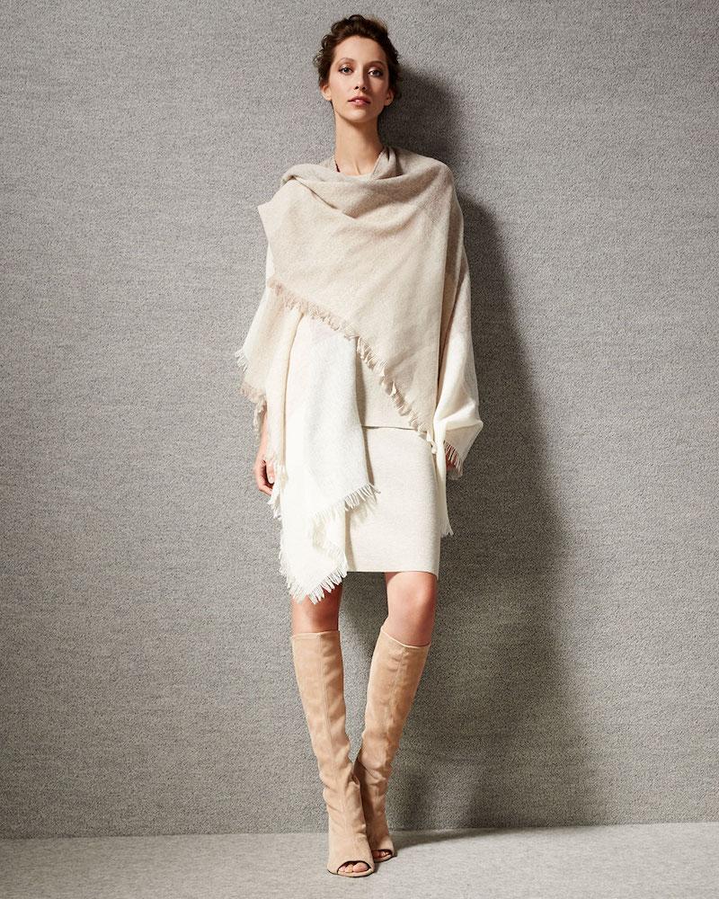 Eileen Fisher Viaggo Wool-Blend Plaid Serape