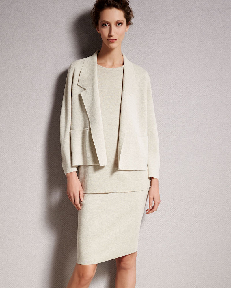 Eileen Fisher Washable Wool Short Boxy Jacket