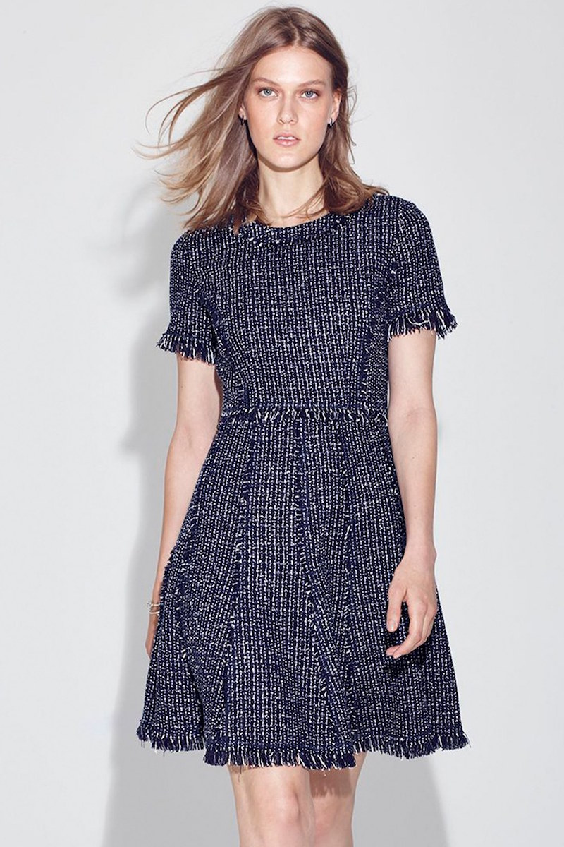Eliza J Tweed Fit & Flare Dress