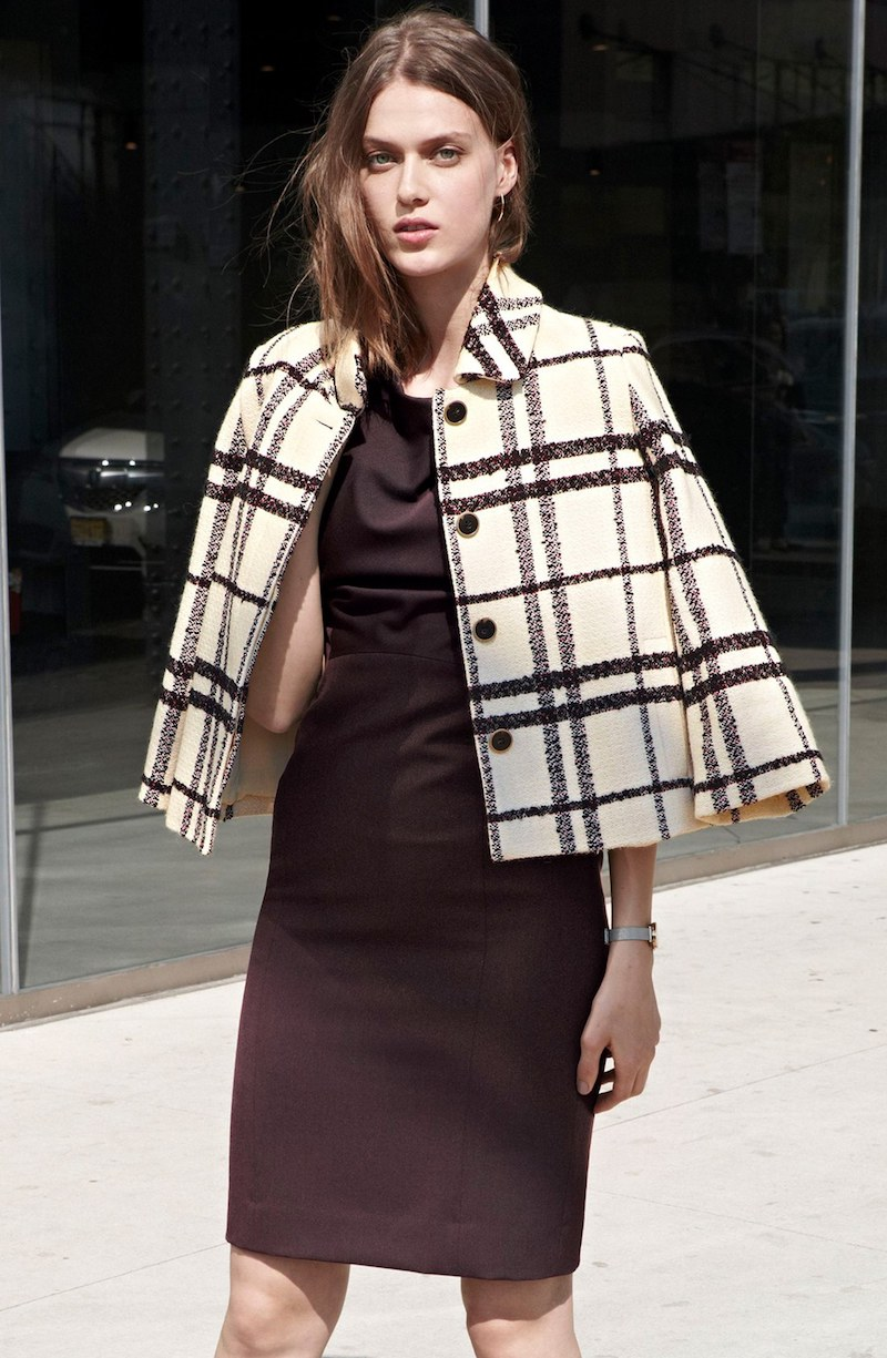 Emerson Rose Plaid Covered Placket Jacket