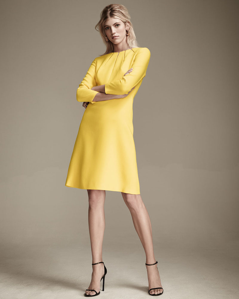 Escada Cutout 3/4-Sleeve A-Line Dress