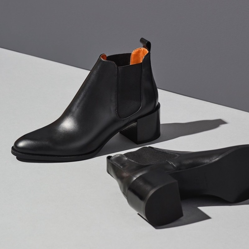 Everlane Heel Boot in Black