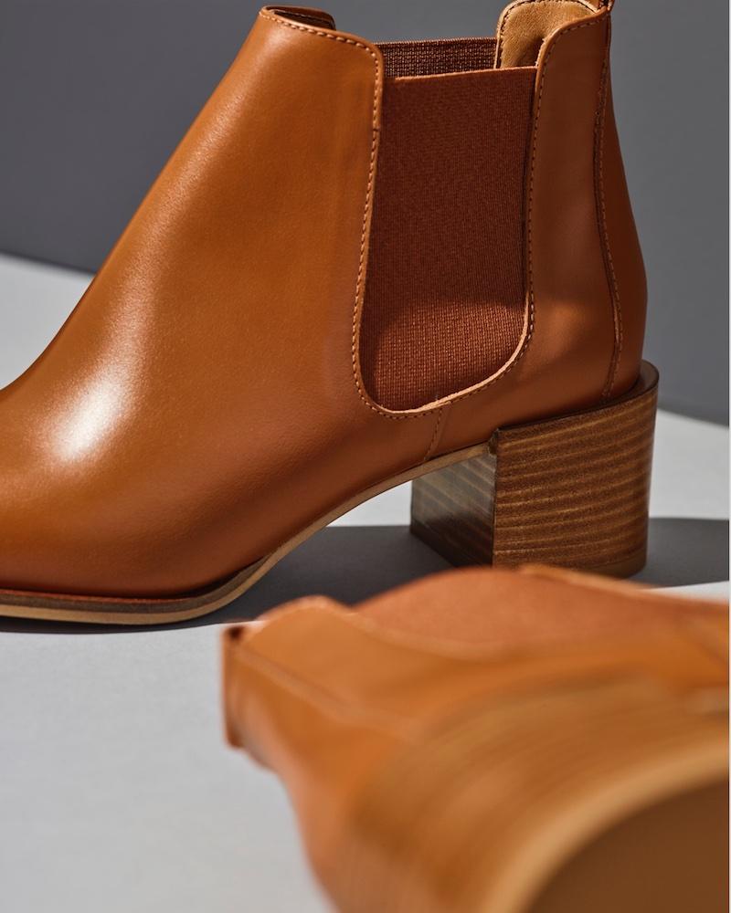 Everlane Heel Boot in Cognac