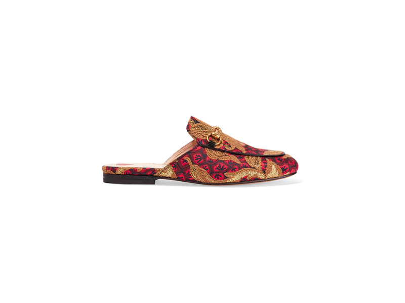 Gucci Princetown Horsebit-Detailed Jacquard Slippers