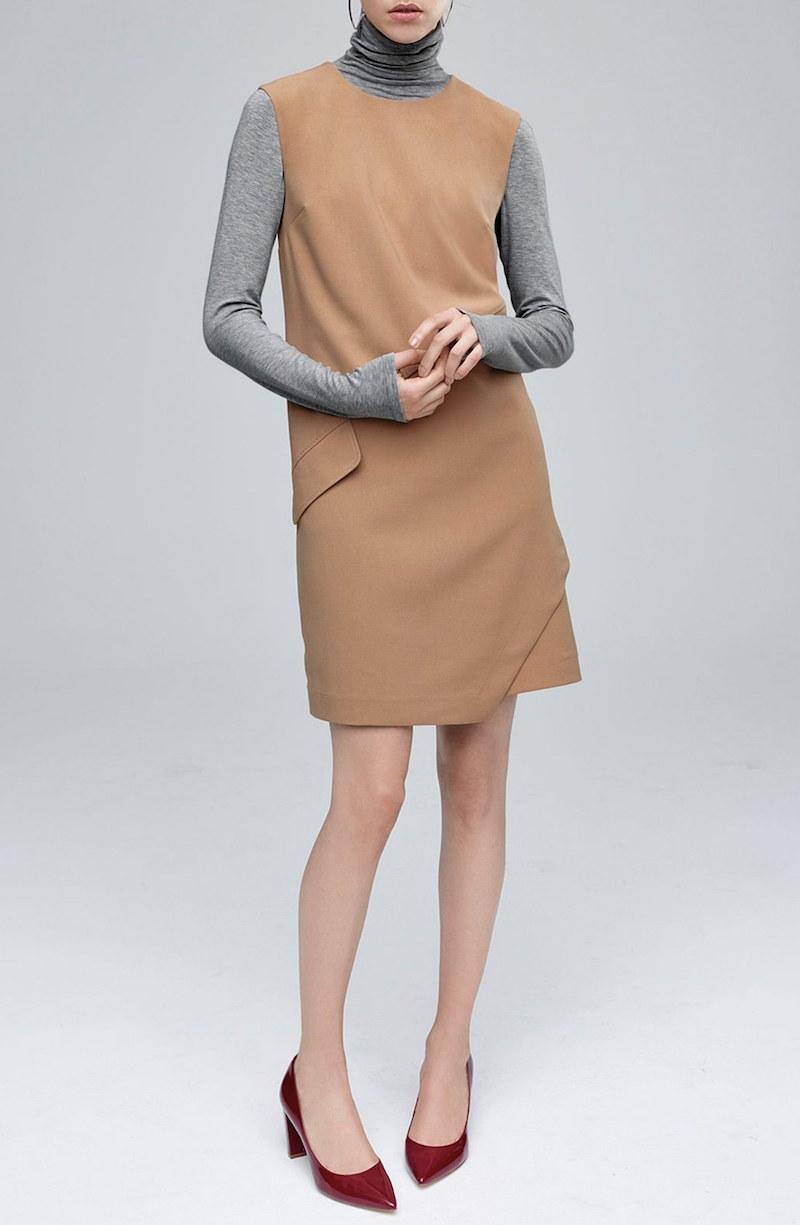 Halogen Asymmetrical Shift Dress
