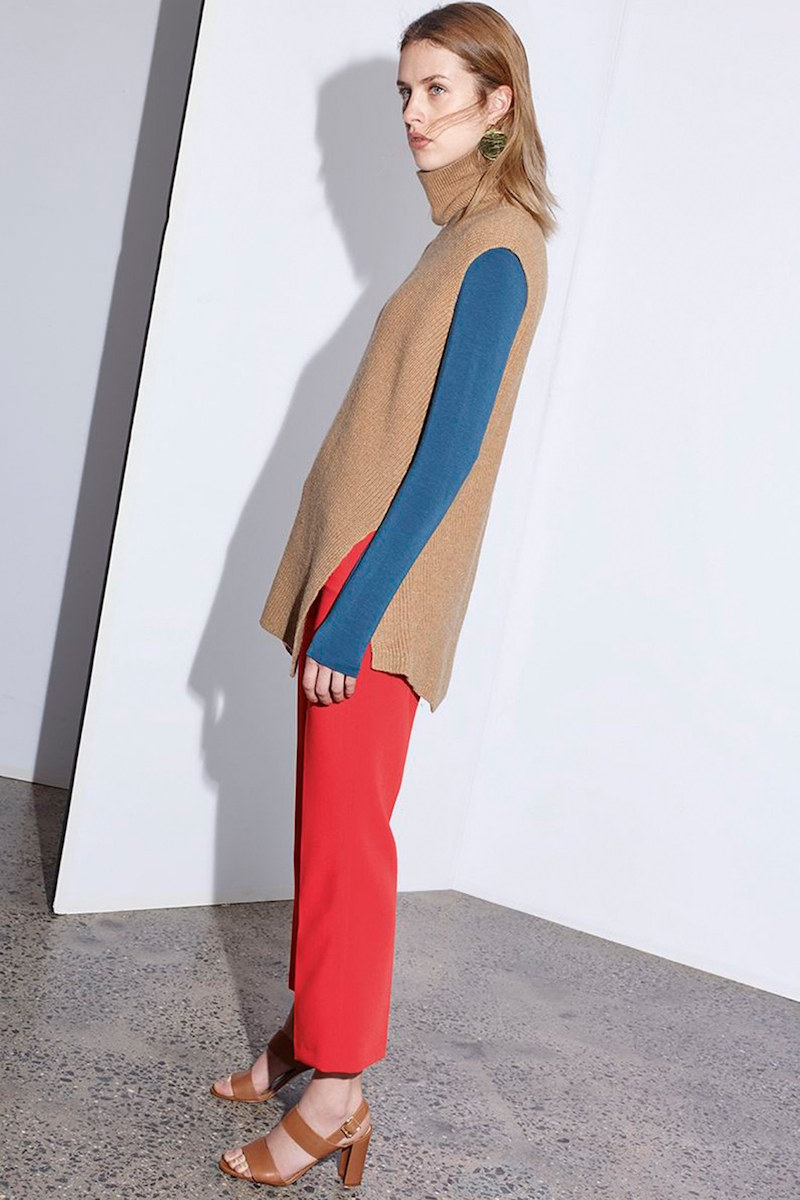 Halogen Asymmetrical Sleeveless Tunic Sweater